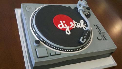 DJ Stef's birthday cake